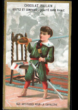 IMAGE CHROMO CHOCOLAT POULAIN / ARMEE / ENFANT & APTITUDE pour la CAVALERIE