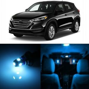 12 x Ice Blue Interior LED Lights Package For 2010 - 2016 Hyundai Tucson + TOOL
