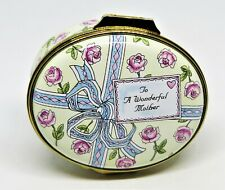 Crummles English Enamel Box - Present To A Wonderful Mother - Birthday - Roses