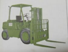 CLARK FORKLIFT Mdl C-500 - 685 Series C-CY - OPERATOR Service & PARTS MANUAL '74