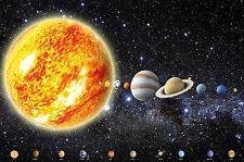 GREAT ART Sonnensystem mit Planeten Wanddekoration Wandbild Galaxie Motiv XXL