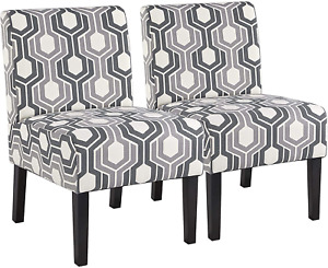 Armless Accent Chairs for Living Room Fabric Slipper Chair Modern Corn
