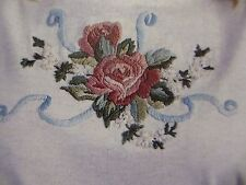 ROSES AND RIBBONS Embroidery + T-Shirt Iron On Pattern Beads Floss 10226 NICE
