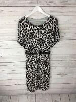 KAREN MILLEN Party Dress - Size UK10 - Animal Print - Great Condition