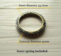 Vostok watch Black bezel custom Amphibia & Komandirskie Stainless steel +Insert