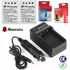 2x EN-EL5 Battery + Charger for Nikon Coolpix P510 P520 P500 P100 P530 P80 P90