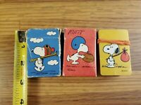 Lot of 3 complete Vintage Hallmark Peanuts Mini Playing Cards Snoopy free ship