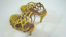 Madden Girl Yellow Women's Shoes Directt Caged Sandals Size 8 M Lsr22-519