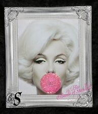 Limited Marilyn Monroe Glitter Canvas Picture Silver Shabby Chic frame  Art.