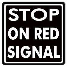 Black Stop On Red Signal Gas Station Sign 12x12
