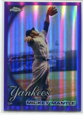 2010 Topps Chrome Purple Refractor 7 Mickey Mantle 258/599