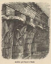 C8779 Egypt - Esna - View - Stampa antica - 1892 Engraving