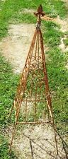 "32"" small Garden Welded Steel Plant Support - Wrought Iron Scroll Topiary"