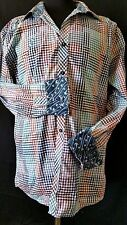 Zagiri Dress Shirt men's flip cuff & collar Sz XL button front Multi-color LS