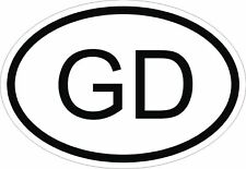 GD GRENADA COUNTRY CODE OVAL STICKER bumper decal car