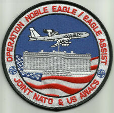 USAF OPERATION NOBLE EAGLE / EAGLE ASSIST JOINT NATO & US AWACS MILITARY PATCH