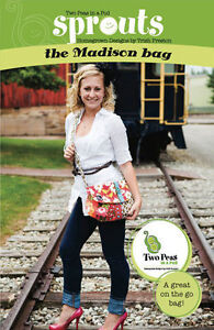THE MADISON BAG Two Peas in a Pod Purse Pattern, NEW