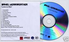 DANIEL MERRIWEATHER Love & War UK numbered promo test CD Adele