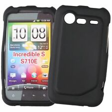 CUSTODIA COVER Per HTC INCREDIBLE S S710E SILICONE NERO MORBIDO GEL PROTEZIONE