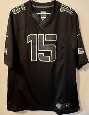 NIKE NFL On Field Black Jersey Seattle Seahawks #15 Matt Flynn QB Sz XL