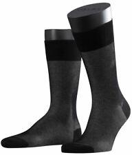 Falke Mens Fine Shadow Socks - Black/Grey