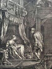 Les désirs satisfaits gravure sur cuivre de PATAS d après Charles EISEN 1772
