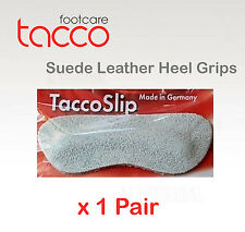 TACCO Suede Heel Grip Shoe Insoles Inserts TaccoSlip ONE SIZE FITS ALL x 1pr