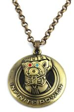 Avengers Thanos Infinite Power Bronze Tone Pendant Necklace