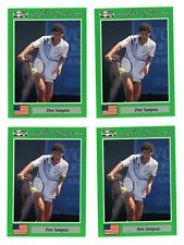 Pete Sampras 1991 NetPro Tour Stars RC #7 (4) Card Lot