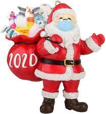 2020 Christmas Ornament _Santa Wearing_Mask in Quarantine Keepsake Unique Luxury
