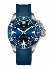 NEW HAMILTON FROGMAN 42MM BLUE DIAL/ BLUE RUBBER H77705345