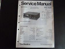 ORIGINALI service manual TECHNICS rs-x20