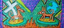 Pharaoh Hound 4x6 Dog Pop Art Mini Print by Artist Ksams Collectible World Cross