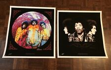 Jimi Hendrix Axis Bold As Love & Are You Experienced Artist Signed Prints