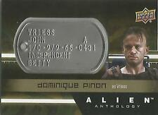 """Alien Anthology - DT-VR Dominique Pinon """"Vriess"""" Space Marine Dog Tag Card"""