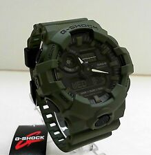 New Casio G-Shock Olive Green Big Case Ana Digi World Time Watch GA-700UC-3A
