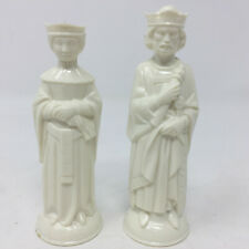 Vintage ES Lowe Renaissance Chess Pieces Replacement King and Queen White