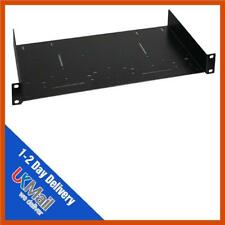 "1u 19"" Zoll Rack Fixed Shelf 250mm black   Deep Netzwerk Schrank Regal"