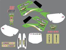 KAWASAKI Chevy carros kx125/250 Kit de gráfico de 2000
