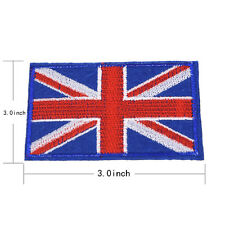 Nation Flagemblem Embroidered Trim Applique National Country Sew/iron on Patchat UK Flag