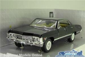 CHEVROLET IMPALA MODEL CAR BLACK 1967 (SUPERNATURAL) 1:36 SCALE KINSMART K8