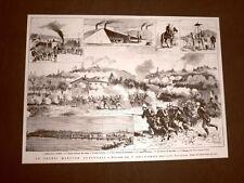 Manovre militari 1° Corpo d'armata in Novara nel 1876 Locomotiva Varallo Pombia