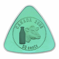 Canada 2008 50 Cents Milk Delivery Triangle Sterling Silver Coin RCM Box COA