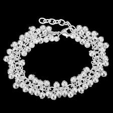 Fashion 925Sterling Solid Silver Jewelry Frosted Grape Bracelet For Women H232