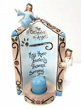 "Clayworks-Blue Sky Retired ""The Cathedral Of Angels"" Tealight Candle Holder 540"