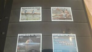 Chad 1984 Olympics Set SG735/8 in Mounted Mint Condition.