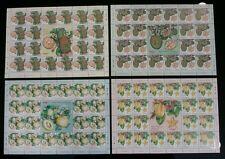 Malaysian Fruits Plant Food Starfruit Honeydew Malaysia 2014 (sheetlet) MNH