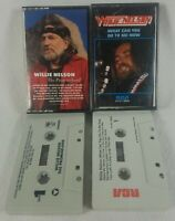 1975/86 Lot of 2 Willie Nelson Audio Cassette Tapes Great Shape! See Pics!