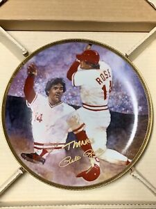 PETE ROSE The Diamond Collection Gartlan 1988 Plate /950 AUTOGRAPHED Signed Rare