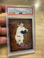 MICKEY MANTLE PSA 7 Topps #HTA7 NEAR MINT New York Yankees Babe Diamond 2011 NR